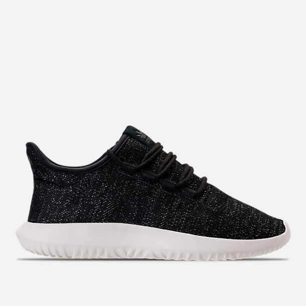 Right view of Women's adidas Originals Tubular Shadow Casual Shoes in Black/White