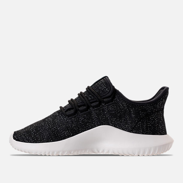 Left view of Women's adidas Originals Tubular Shadow Casual Shoes in Black/White
