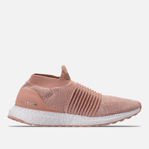 Right view of Women's adidas UltraBOOST Laceless Running Shoes in Ash Pearl/Ash Pearl/Ash Pearl