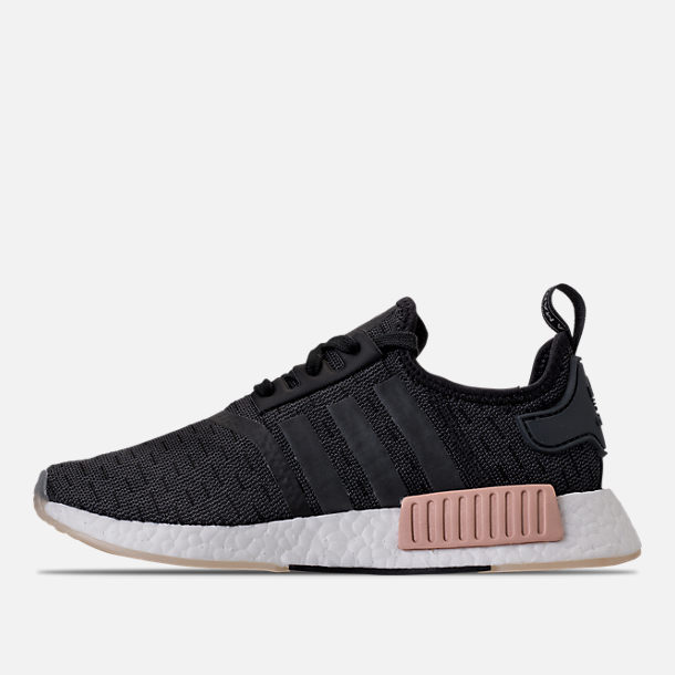 Left view of Women's adidas NMD R1 Casual Shoes in Core Black/Noble Indigo/White