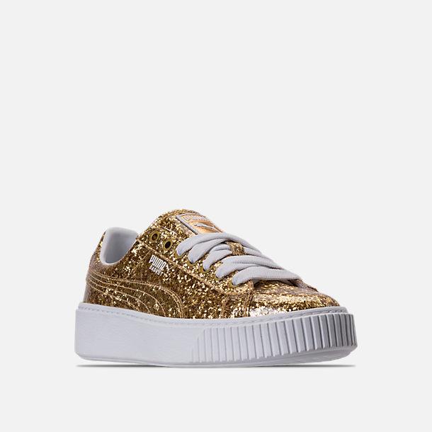 scarpe puma basket platformglitter