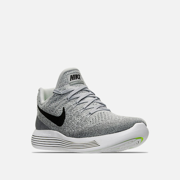 df950859775b2 ... sweden three quarter view of womens nike lunarepic low flyknit 2 running  shoes in wolf grey