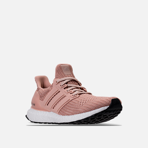 Three Quarter view of Women's adidas UltraBOOST 4.0 Running Shoes in Ash Pearl