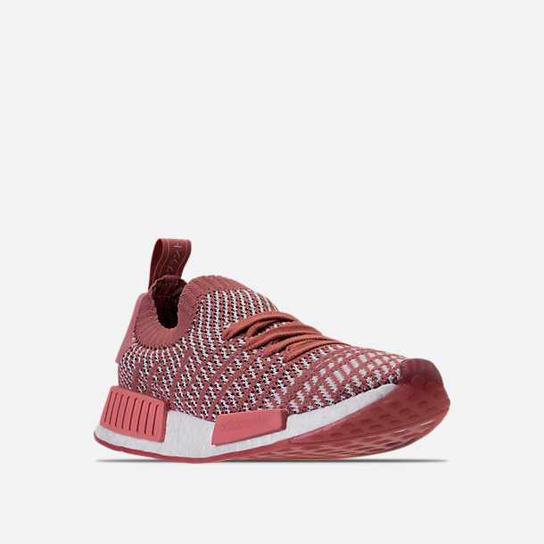 f59697508d3 Three Quarter view of Women s adidas NMD R1 STLT Primeknit Casual Shoes in Ash  Pink