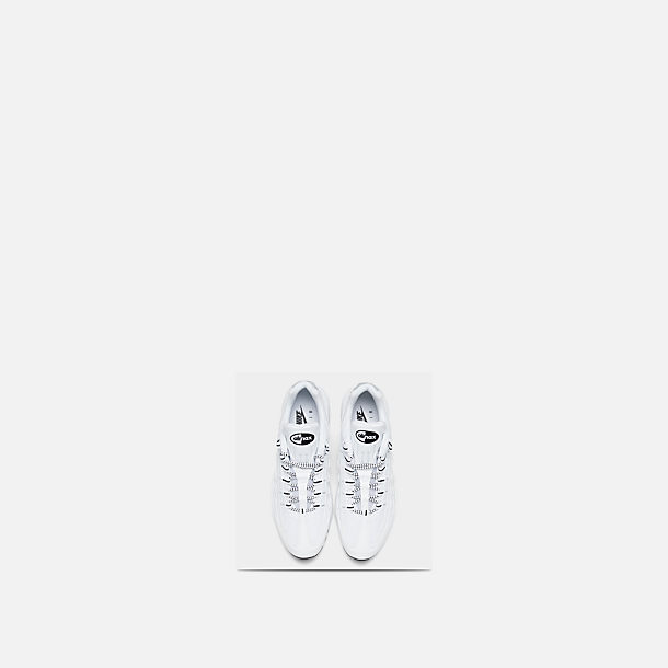 Back view of Men's Nike Air Max 95 Running Shoes in White/Black