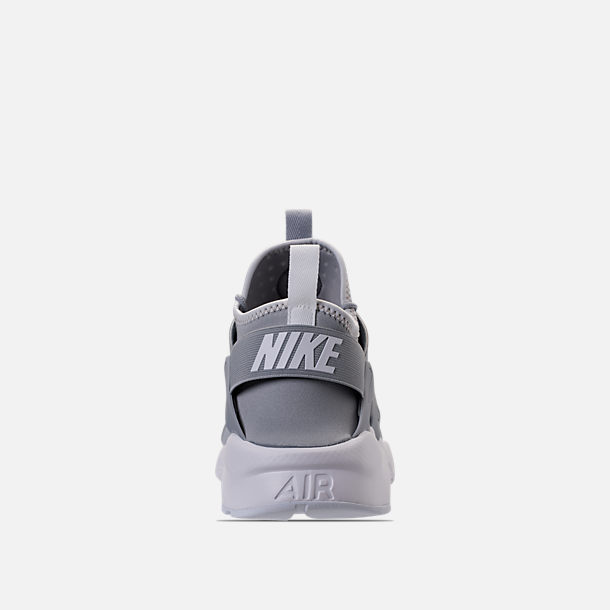 Back view of Men's Nike Air Huarache Run Ultra Casual Shoes in Wolf Grey/Pale Grey/White