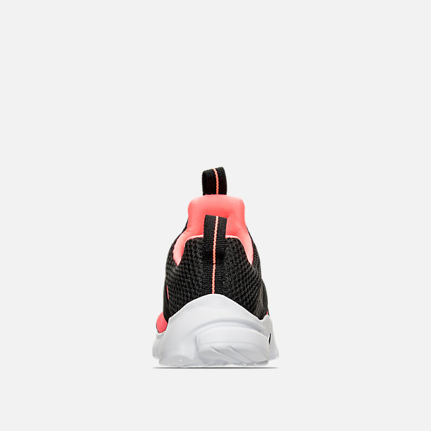 Back view of Girls' Preschool Nike Presto Extreme Running Shoes in  Black/Lava Glow
