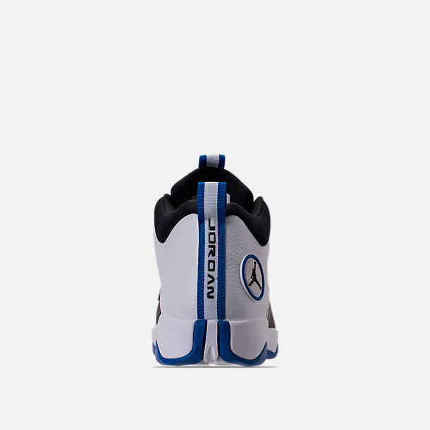 Back view of Men's Air Jordan Jumpman Pro Quick Basketball Shoes in White/Black/Varsity Royal