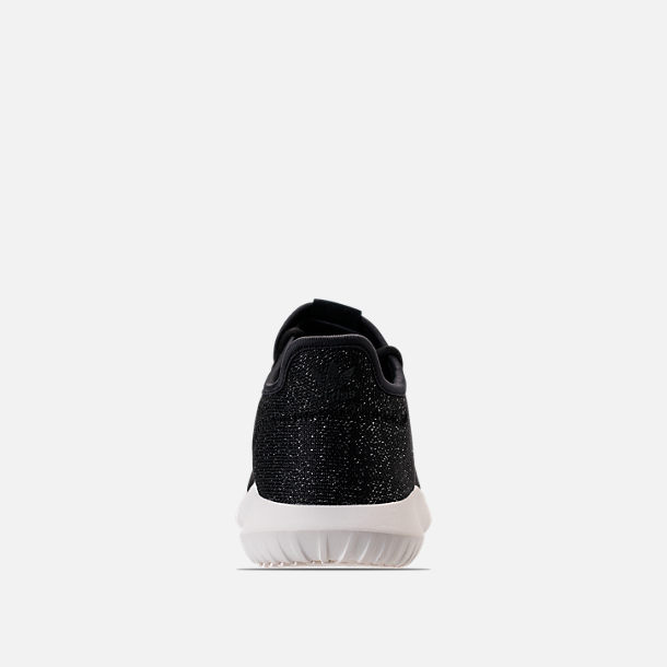 Back view of Women's adidas Originals Tubular Shadow Casual Shoes in Black/White
