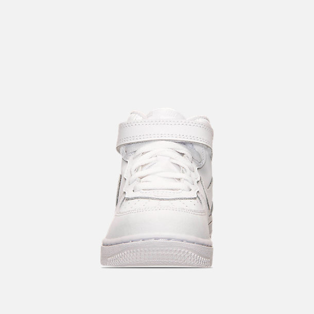 8e5bc802b5 Front view of Toddler Nike Air Force 1 Mid Basketball Shoes in White