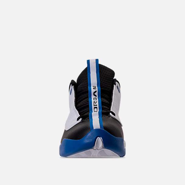 Front view of Men's Air Jordan Jumpman Pro Quick Basketball Shoes in White/Black/Varsity Royal