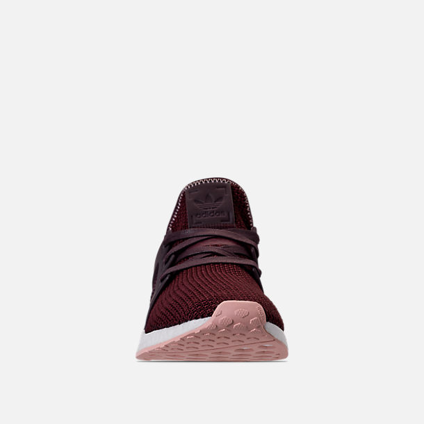 Front view of Women's adidas NMD XR1 Casual Shoes in Dark Burgundy/Vapour Pink