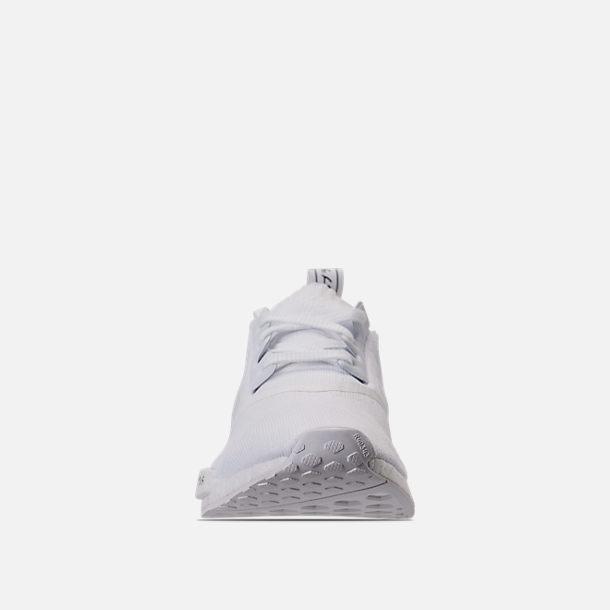 Mens Adidas Nmd Runner R Primeknit Casual Shoes Triple White