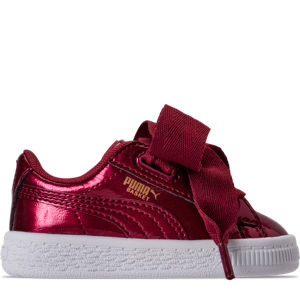 Girls' Toddler Puma Basket Heart Glam Casual Shoes