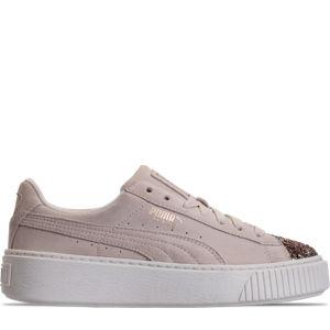 Women's Puma Suede Platform Crushed Jewel Casual Shoes