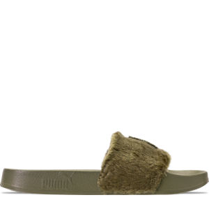 Women's Puma x Rihanna Fenty University Fur Leadcat Slide Sandals Product Image