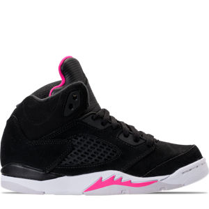 Girls' Preschool Jordan Retro 5 Basketball Shoes