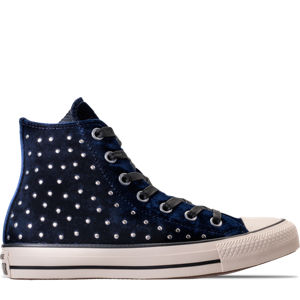 Women's Converse Chuck Taylor High Top Velvet Stud Casual Shoes Product Image