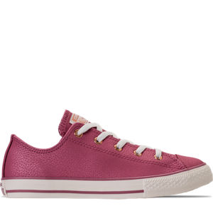 Girls' Grade School Converse Chuck Taylor Ox Leather Casual Shoes