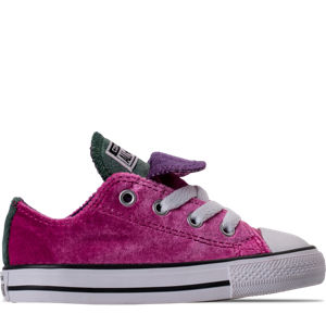 Girls' Toddler Converse Chuck Taylor All Star Velvet Double Tongue Casual Shoes Product Image