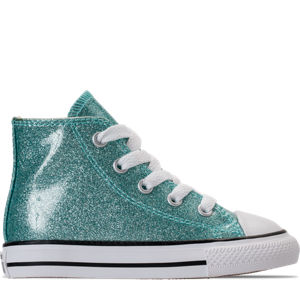 Girls' Toddler Converse Chuck Taylor High Top Glitter Casual Shoes