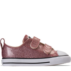 Girls' Toddler Converse Chuck Taylor Ox Glitter Hook-and-Loop Strap Casual Shoes