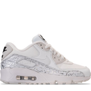 Girls' Grade School Nike Air Max 90 Leather Casual Shoes Product Image