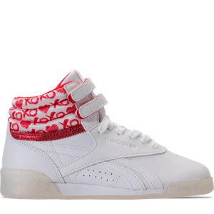 Girls' Grade School Reebok Freestyle Hi Hearts Casual Shoes