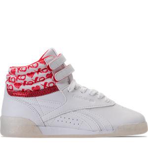 Girls' Preschool Reebok Freestyle Hi Hearts Casual Shoes