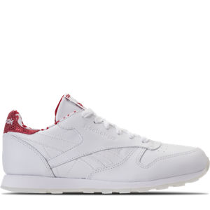 Girls' Grade School Reebok Classic Leather Hearts Casual Shoes