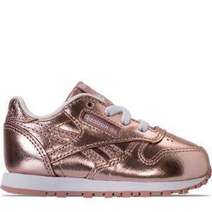 Girls' Toddler Reebok Classic Leather Metallic Casual Shoes Product Image